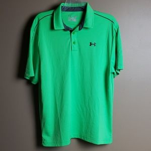 Under Armour mens polo neon green size L